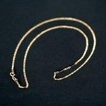 Pulseira De Ouro 18k Piastrine 20cm