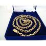 Corrente Ouro 18k Masculina Maciça Cadeado Cartie 60grs