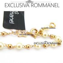 Rommanel Pulseira Infantil Bebe Menina 12/14cm Perola 550883
