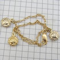 4289 Pulseira 22 Cm Portuguesa De Ouro 18k 750 Y
