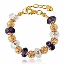Pulseira Bracelete Pandora Banhada Ouro 18k