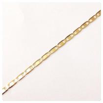 Conjunto Corrente E Pulseira Piastrine Em Ouro 18k-750