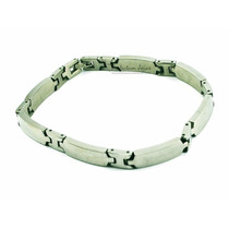 Pulseira/corrente/bracelete/algema Masculina Aço Vittorio