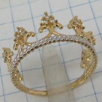 2300 Anel De Coroa De Ouro 18k 750 W