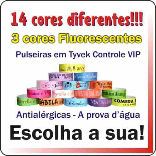 Pulseiras Identificação Para Festas E Eventos Kit 500 Unid