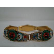 Pulseira / Bracelete De Murano Banhado A Ouro Made In Italy