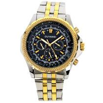 Relógio Automatico Importado De Luxo - Pulseira Em Aço