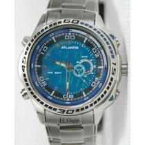 Relógio Atlantis Edifice Azul - Original