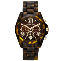 Relógio Luxo Michael Kors Mk5839 Orig Chron Anal Tortoise!!!