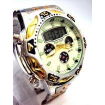 Relógio Tecnet Universe Aviador - Original