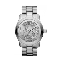 Relógio Luxo Michael Kors Mk5544 Orig Anal Prata Swarovski!!
