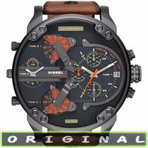 Relógio Diesel Dz7332 Couro Marrom Grande Mr. Daddy 2.0 57mm
