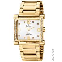 Relógio Feminino Dourado Champion Cn29383h Original