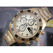 Relógio Invicta Specialty 1016 Cronografo Banhado Ouro