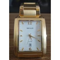 Relógio Masculino Dourado Seculus 28100gpspda Original