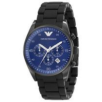 Relógio Emporio Armani Ar5921 Preto Azul Lindo Frete Grátis.