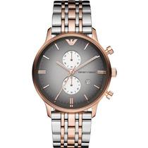 Relógio Emporio Armani Ar1721 Prata,preto E Rose Fretegrátis