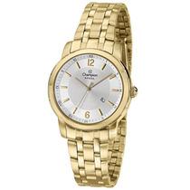 Relógio Feminino Champion Dourado Com Calendário Cs28227h