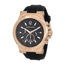 Relógio Mk8184 Michael Kors Dourado E Preto Emborrachado