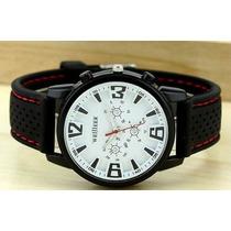Relógio Sport Branco Militar Aviador Pulso Frete Grátis