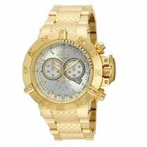 Relógio Invicta Subaqua Noma 3 Iii 14500 14501 Gold 18k Ouro