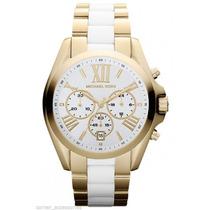 Relógio Michael Kors Mk5743 Dourado E Branco Frete Grátis