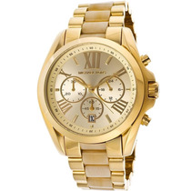 Relógio Michael Kors Mk5722 Dourado Madrepérola Com Caixa.