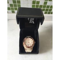 Relógio Everlast E408 Branco Rose Caixa Manual Novo