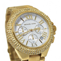 Relógio Michael Kors Mk5756 Gold Strass - Modelo Novo