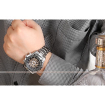 Relógio Winner Pulseira Aço Automático Import. Veja O Vídeo