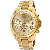 Relógio Michael Kors Mk5722 Dourado Madreperola Modelo Novo