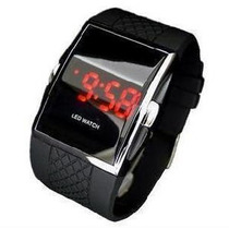Relogio Pulso Digital Sport Black Watch Led Vermelho