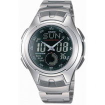 Relogio Casio Aq 160w-1 Aço Cronometro,5alarm,h.mundial
