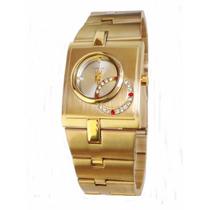 Relógio Lince Orient Dourado Feminino Promoção Lqg4043l