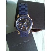 Relógio Michael Kros Azul Emborrachado