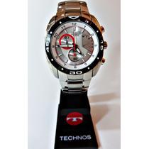 Relógio Technos Cronógrafo Inox 10 Atm Frete Grátis Tc05