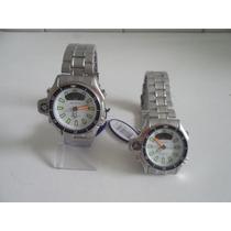 Relógio Pulso Masculino Atlantis Aqualand Serie Prata Aço