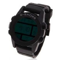 Relógio Sport Preto G-shors Sh-728 Luz Led