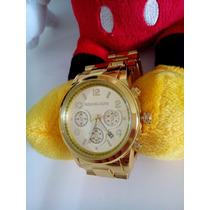 Relógio Michael Kors Luxo Dourado M K - Importado
