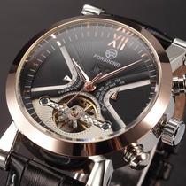 Relógio Automático De Alta Qualidade Com Pulseira Em Couro