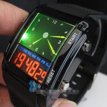 Relógio Unissex Analógico/digital Dual Led Novo