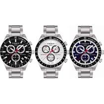 Relógio Tissot Prs 516 Fundo Preto / Branco / Azul Prs516