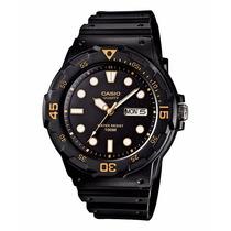 Relógio Casio Mergulho Mrw-200 H-1evdf Calendário Wr100 Mt G