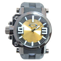 Relógio Masculino Esporte Novo Okley Gearbox Preto E Dourado