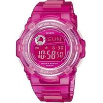 Relogio Casio Baby-g Feminino Bg-3000a H.mundial 200m Rosa