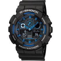 Relógio Casio G-shock Ga-100 1a2 5 Alarmes H Mundial Wr200 A
