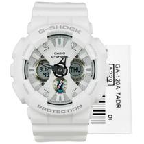 Relógio Ga-120a Branco Alarme Cronômetro Timer Ga-120 Ga120