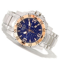 Invicta Excursion Reserve Chronograph Azul E Ouro 18k 10889