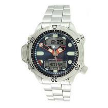 Relógio Citizen Aqualand Azul Jp1010-51l Metal 12 X S/ Juros