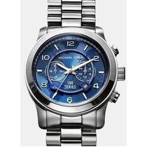 Relógio Michael Kors Mk8314 Azul - Oversized - Original